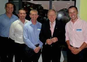 Neal Fischer, Brychan Hawker, Stuart O'Brien, Michael Kirby and Dave Brook at the Pinnacle Foundation Scholarship Awards 2012